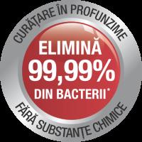 Elimină 99,99% din bacterii